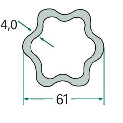 SUC1563 Pasek wielorowkowy JCB bez klimy