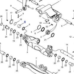 Tuleja osi centralnej 120x127x40mm Claas Renault
