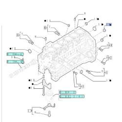 Końcówka kierownicza przegub drążek kierowniczy case 580f 580g D88492