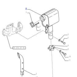 lampa przednia drogowa boczna fiat m100 ford Steyr cvt new holland TM120, TM125 TM130 TM135 TM140 TM150 TM155 82014130 case cs