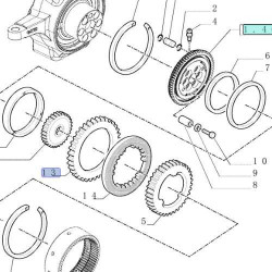 Pierścień koronkowy półosi kótkiej Case 580SR 580L 580SL 580M 580SM New Holland LB110 LB115 190682A1 85805999 134197 11988573