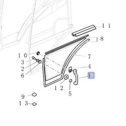 KOP7088 Pokrywa zaślepka kolumny podpory Case 580 G K SK SLE SM 138086A1, D120671
