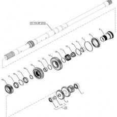 HYD8020 Sekcja zaworu rozdzielacza Case CVX, Steyr CVT, 132573430, 84242996