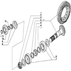 UKI1242 Końcówka Kierownicza 315 mm JCB JCB 535-125 JCB 535-140 JCB 540-140 458/20374
