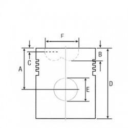 PON2616 Tulejka zawieszenia osi 115.90x122.07x20.11 mm
