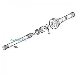 PON2601 Tulejka zawieszenia osi 32x37x38mm