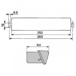 PON1236 Uszczelniacz piasty koła 105x130x12mm