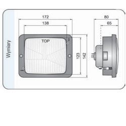 FPO3004 Filtr powietrza zewnętrzny case new holland jcb