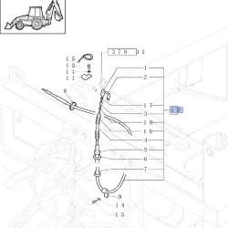AKK4316 Lusterko zewnętrzne z uchwytem