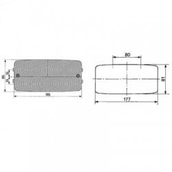 PON2518 Tulejka 99.00x103.70x52mm