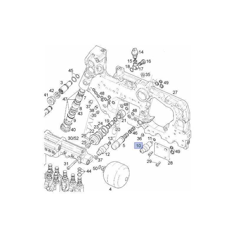 ELE1212 Case 580SR, 590SR, 695SR, 695SM, 595 New Holland LB110, LB115, B95, B100, B110, B200 JCB 3CX, 4CX Terex 860SX 85803854,