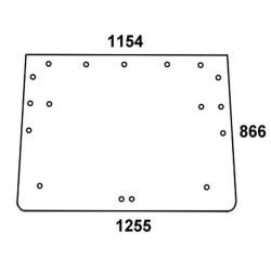 AKK2665 Szyba tylna gumowe zawiasy