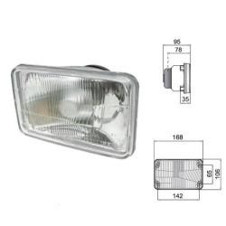 reflektor lampa drogowa przednia, Deutz   Agrotron 100,  106, 110,115, 120,  135, 150, 80, 85,  90,   4.70,  4.80 04411363 04435
