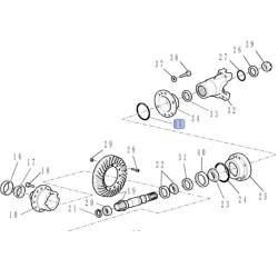 SKR7095 uszczelniacz, skrzyni,wyjścia,tylni,napęd, Case: 580SR, 580SR PLUS 590SR New Holland  LB110 LB115 81845713
