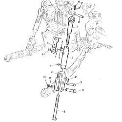 TRP2863 Sworzeń widełek wieszaka 16x87mm R63737 John Deere