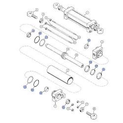 Uszczelki dołu miski silnika Case Magnum 225, 250, 280, 310, 335 Axial Flow New Holland TG210 cummins 87351543, 4089889 6CT ISC8