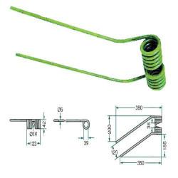 FA-461110 Palec zgrabiarki Fella Lewy (zielony)