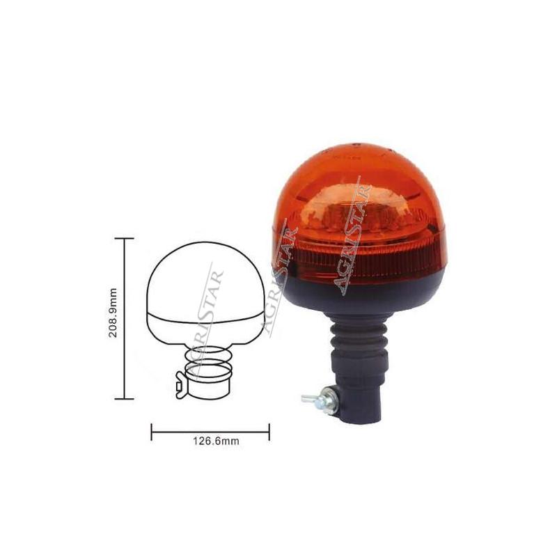 Lampa ostrzegwacza błuskowa LED, kogut 12/24V john deere case new holland fendt massey ferguson
