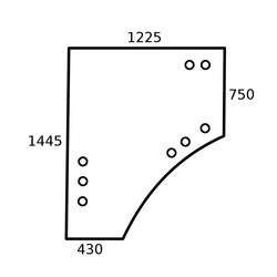 L212968, L209796 szyba,drzwi, john,deere 5220, 5320, 5320N, 5420, 5420N, 5520, 5520N  6110R, 6115R, 6120R, 6125R, 6130R 6140R, 6