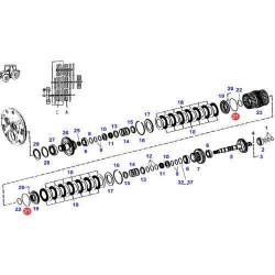 SKR4253 Uszczelniacz tłoka Sprzęgłowego Power Shift Fendt