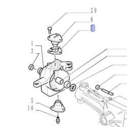 Dzwignia Przełącznik kierunku rewersu Powershift Case, 580 695 SR SM ST New Holland, Fiat, FB110, FB200 LB75 LB90 LB95 LB110 LB1