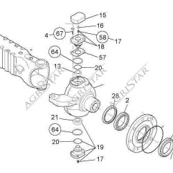 Podkładka sworznia zwrotnicy górny 0,20mm claas scorpion john deere ładowarka Manitou: MLT730, MLT731, new holland lm 430