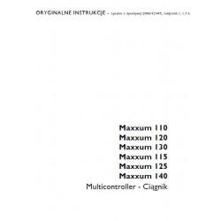Istrukcja napraw - obsługi operatora książka serwisowa Case Maxxum 110 120 130 140 115 125 multicontroler