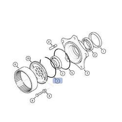 Pierścień zabezpieczający piasty koła