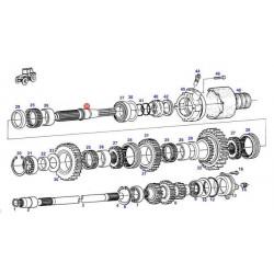 Końcówka,kierownicza,przegub drążek,kierowniczy tylna oś CASE,695SM,695SR NEW HOLLAND,FB200,LB115,85817682