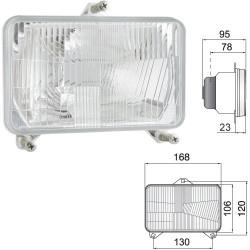 lampy lampa przednia drogowa fiat m100 ford Steyr cvt new holland TM115, TM120, TM125, TM130, TM135, TM140, TM150, TM155, TM165,