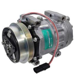 Kompresor klimatyzacji sanden sprężarka New-Holland CX8060, CX8070, CX8080, CX8090 FX Case CHX 320, CHX 420, CHX 520