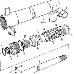 Zestaw naprawczy uszczelnień siłownika wysięgu łyżki 50-70mm JCB 520-4