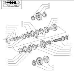 Pompka z filtrem paliwa JCB 531-70 Case New Holland lb110 lb115 32/925914 32/925717