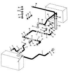 Wąż paliwowy zbiornika John Deere R95468