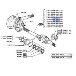 PON3621 półoś kpl. Fiat 140-90,160-90,180-90, 1235165619, 5165619 5136983