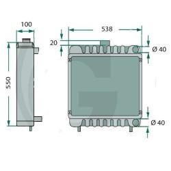 Uszczelniacz pompy jazdy Case 580 47,6X72X8mm