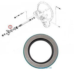 Uszczelniacz wałka wału napędu tylnej osi przy skrzyni Case 580K, 580SK A175651