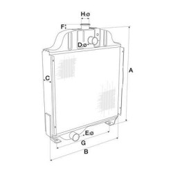 Filtr powietrza obudowa Case 580SR New Holland B110, B115, LB90.B LB110.B LM5040 LM5060, LM5080 Komatsu WB95 wb97