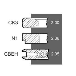 SCY4073 Pierścienie tłokowe 3,00x2,36x2,95mm