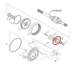 Łącznik kości TLS John Deere AL119734 AL115923, 55M7012