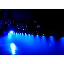 Halogen Lampa obocza LED niebieska oświetlająca belkę opryskiwacza blue Boom Light amazone hardi rau