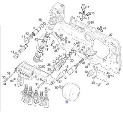 ELE7120 Elektrozawór regulatora ciśnienia skrzyni biegów Deutz Agrotron MKIII Same Lamborghini Hurlimann 0.900.2094.5, 0443442