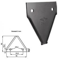 CT01-522187 Nożyk kosy górnoryflowany DIN80