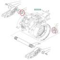 Wałek zębaty skrzyni biegów case New Holland/ Ford/ Fiat TS T5 T6 Case Farmall Maxxum 100 110 115 120 125 130 135 140 145 150 MX