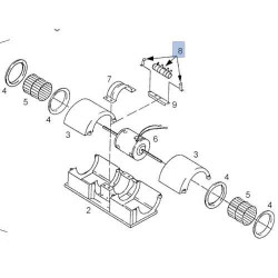Uszczelniacz wałka napędu wyjście skrzyni 50,8mm Case 580K 580SK A158371 D56800