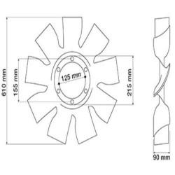 Podpora łożyska wału napędowego new holland td Case JX80 JX85 JX90 JX95 5110871 5156553