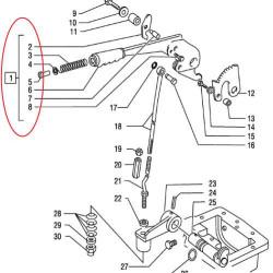 HAM7202 Dźwignia Zestaw Hamulca Ręcznego  Case , New Holland