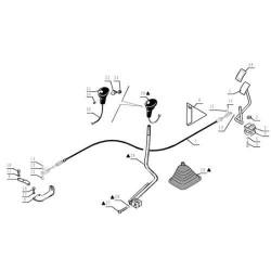 Linka gazu nożnego New Holland: LM415A LM425A LM435A LM445A   85825733