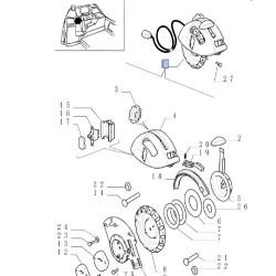 HAM4083 Pompa hamulcowa główna New Holland LM410, LM415A, LM420, LM425, LM425A, LM435A, LM445A, LM630, LM640 85820347