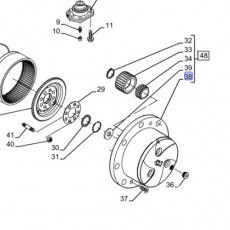 ELE5122 Przełącznik świateł wycieraczek kierunkowskazów Massey Ferguson